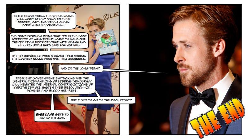 Ryan Gosling and Kate Upton Explain the Shutdown