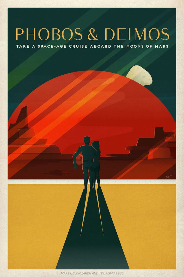 SpaceX Just Dropped These Amazing Retro Mars Travel Posters