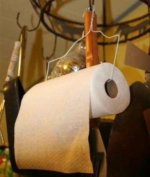 Build a Paper Towel Holder from an Old Wire Coat Hanger