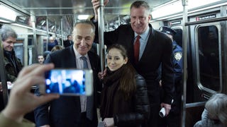Fancy Mayor De Blasio Thinks the Subway Runs Just For Him