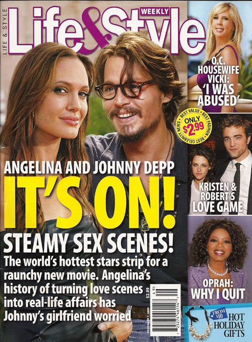 This Week In Tabloids: Jolie & Johnny Destined To Fornicate