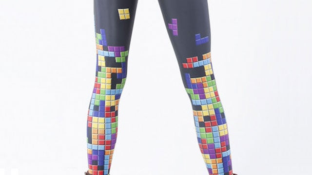 Tetris Knows how to Keep a Lady's Legs Warm