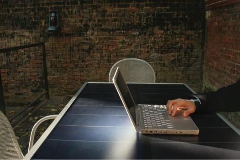 Sun Table Brings Solar Power To Laptops, TVs