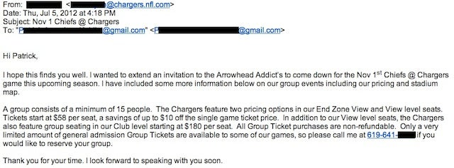 Chargers Now Actively Trying To Sell Tickets To Chiefs Fans