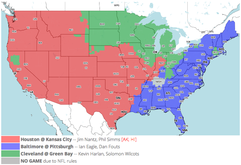 Which TV Market's Getting Screwed Today? Your Week 7 NFL Viewing Maps