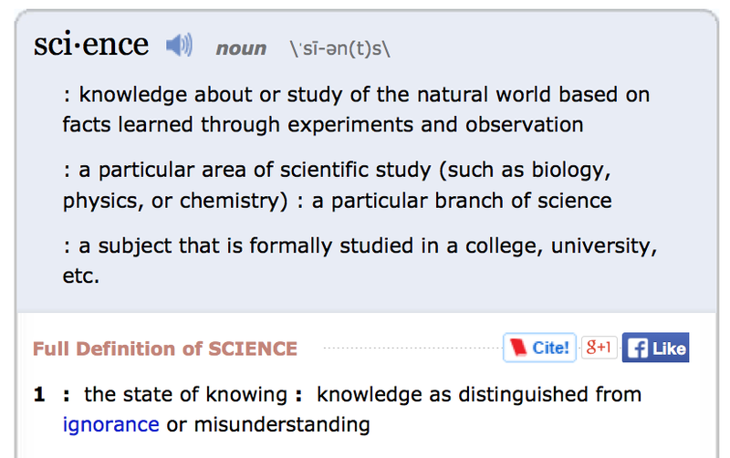 "Motherfuckers Are Looking Up ""Science"" in the Dictionary"