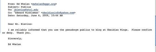 Former Deputy Assistant Attorney General Outs Pseudonymous Blogger Who Was Mean to Him