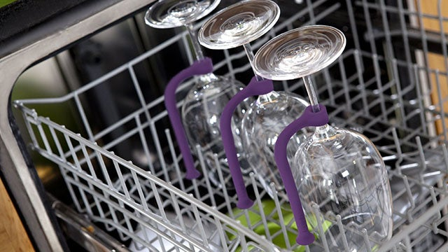 Tether Keeps Your Stemware from Flying Around in the Dishwasher
