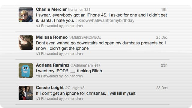 WAHHHH! These Horrible People Didn't Get What They Wanted for Christmas