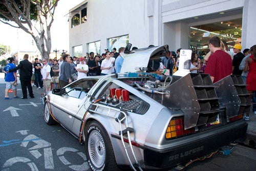 "DeLorean Shows Up at Nike Hyperdunk ""Back to the Future"" Sneaker Premiere"