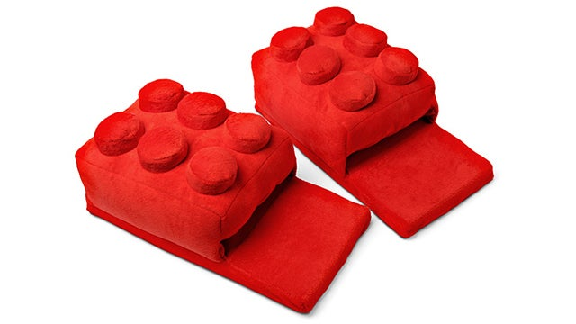 Every Lego Fan Needs These Red Brick Slippers