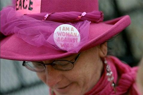 Women War Protestors Appreciate A Pretty Mugshot