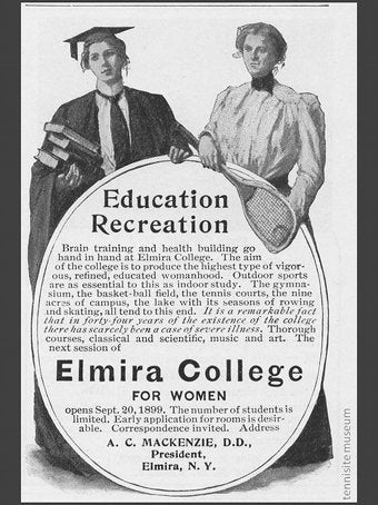 "Elmira College: ""Brain Training And Health Building"" Since 1855"