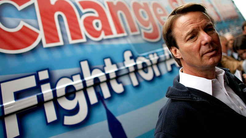 John Edwards Indicted For Knocking Up That Lady