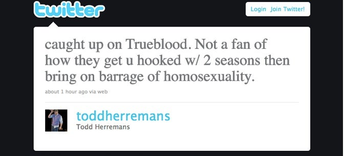 Philadelphia Eagles Lineman Doesn't Like It When True Blood Goes Super Gay