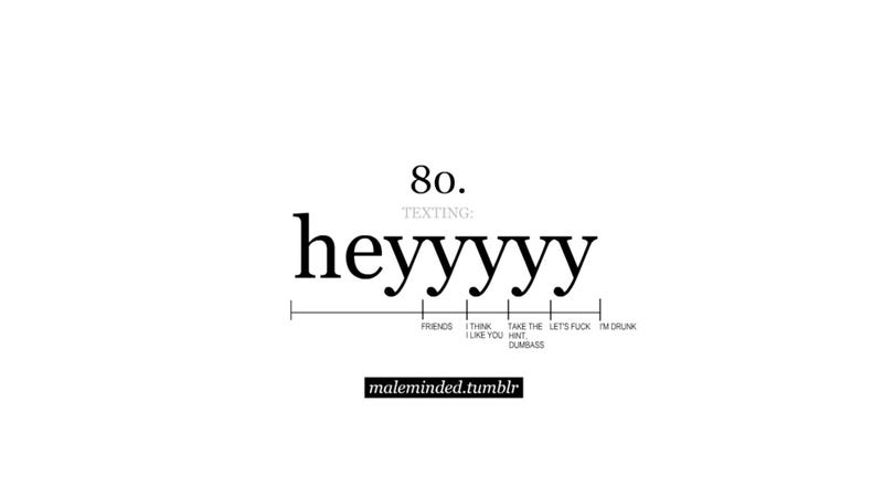 Heyyyyy: A Simple Guide to Decipher Booty Call Texts