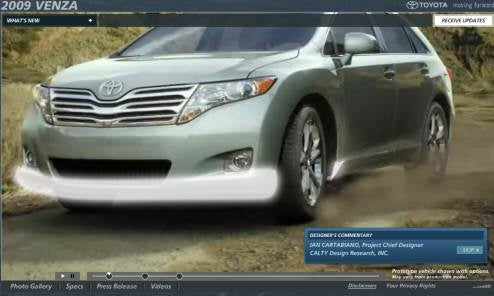 2009 Toyota Venza Website Goes Live With A Wide Stance