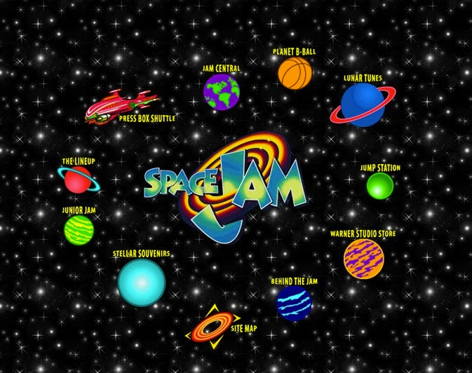 Space Jam website is a time portal into 1996