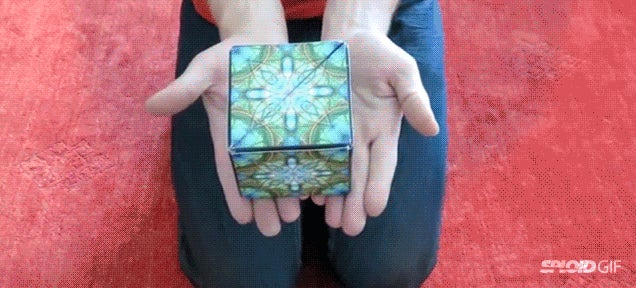 Magic cube transforms into dozens of wonderful geometrical shapes
