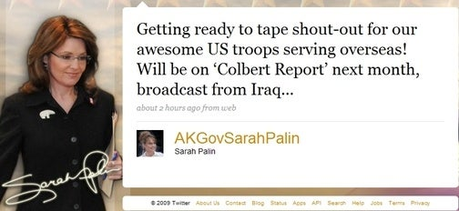Sarah Palin Reveals Top-Secret Colbert Report Iraq Appearance