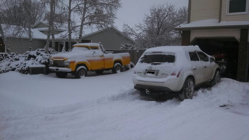 My family's cars..and snow.
