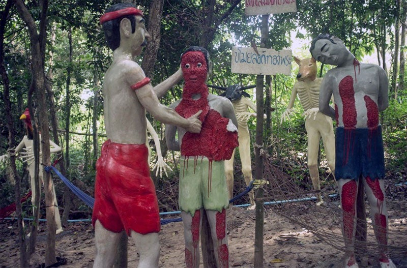 Spend a lovely day with the kids at Thailand's Hell torture theme park