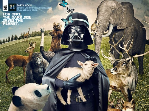 This Sith Lord Uses The Dark Side To Save The Planet, And Baby Animals