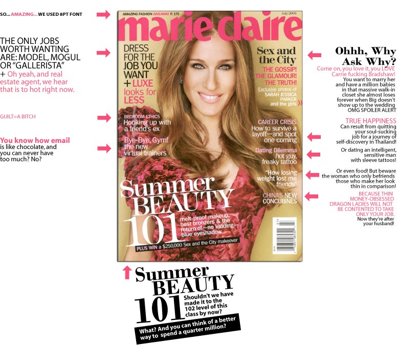 Marie Claire Celebrates Saturation & The City!