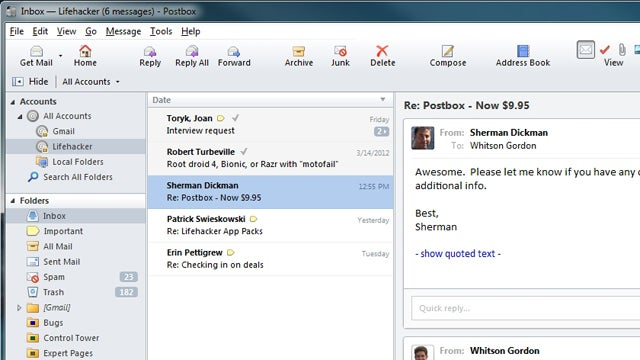 Postbox Email Client Now Only $9.99, Is a Perfect Alternative to Thunderbird