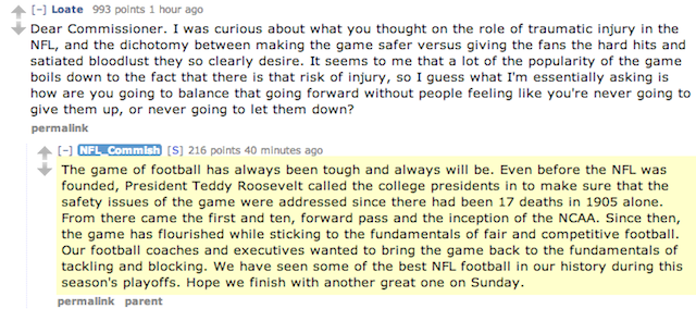 Chris Kluwe Rickrolled Roger Goodell In The Commissioner's Reddit Q&A