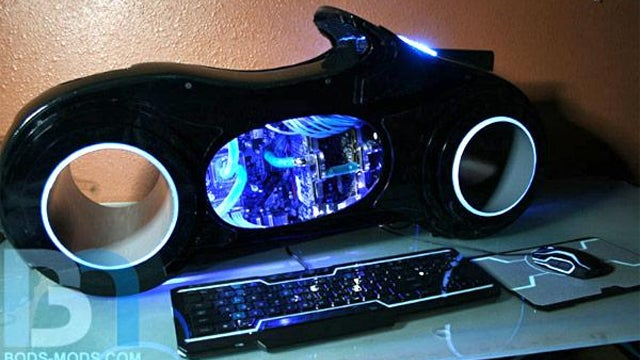 Tron Lightcycle Case Mod Should Only be Used in the Dark