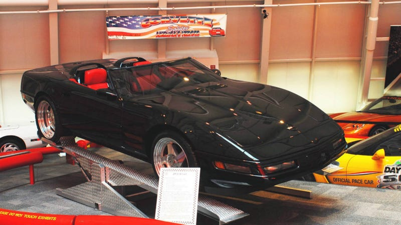 The sinkhole Corvettes as they looked before the museum ate them