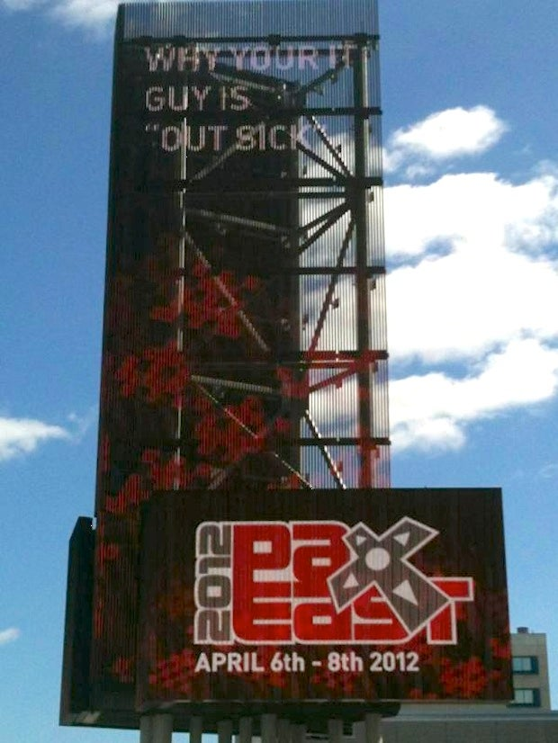 This PAX East Billboard Blows Everyone's Sick-Day Cover Story