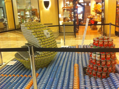 Mall Celebrates Pac-Man's 30th Birthday With Canned Veggies