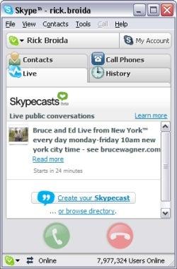 recording a skype call