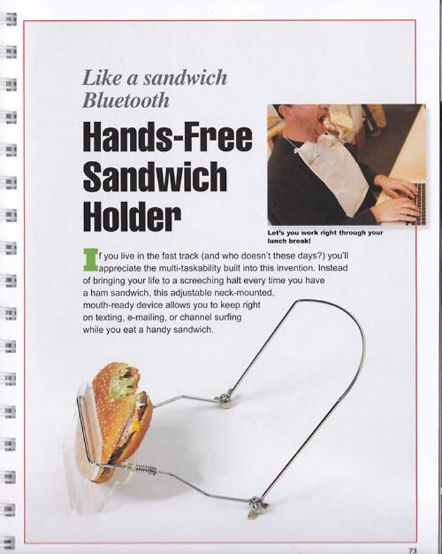 World Moves Forward Thanks to Hands-Free Sandwich-Holder