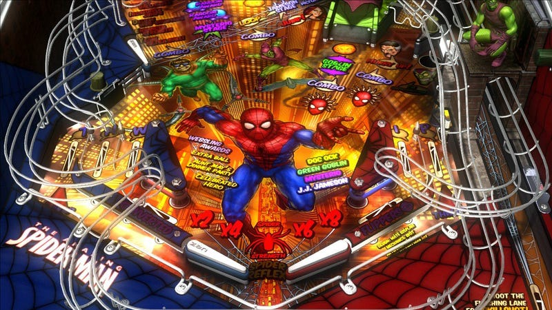 Marvel Pinball Offers Prizes in Spider-Man Tourney