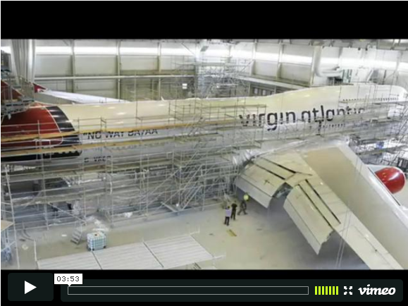 Watch a 747 Put On Its War Paint