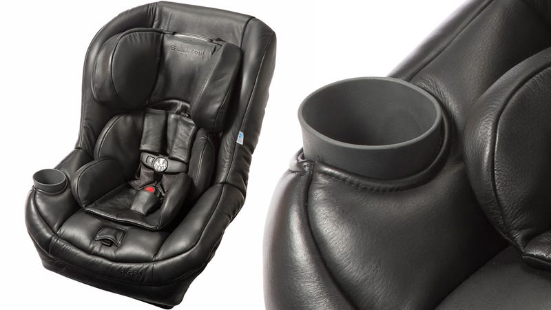 Your Baby Deserves a Luxurious Leather Carseat With a Sippy Cup Holder