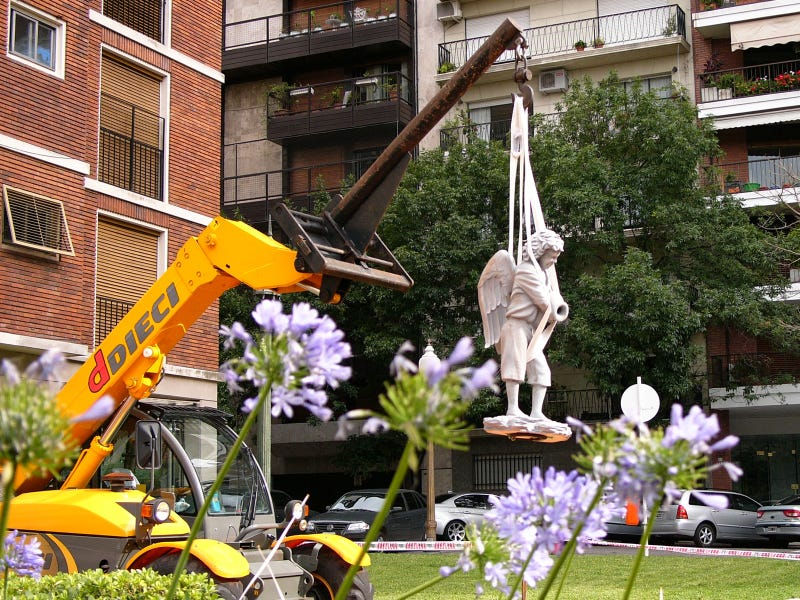 A Peculiar Use for Mobile Cranes