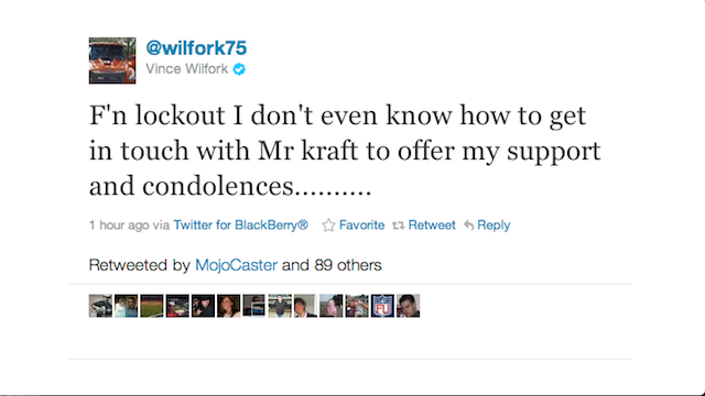 Vince Wilfork Would Like To Express His Condolences To Robert Kraft, But Can't