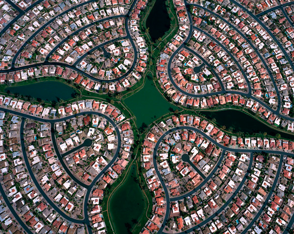 Viewing A Suburb From Above Is Geometric