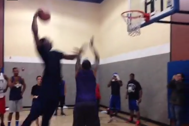 Andre Drummond Abuses Chris Brown On A Dunk