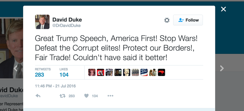 """Former KKK Grand Wizard on Trump's RNC Speech: """"Couldn't Have Said It Better"""""""