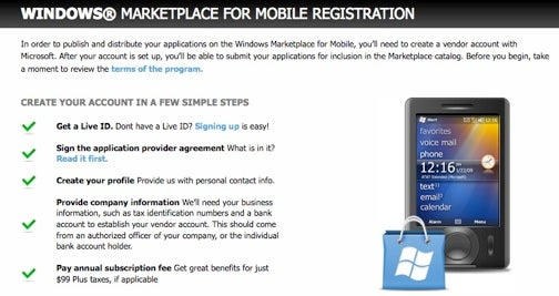 Windows Marketplace for Mobile Now Open to Developers