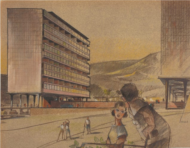 The Secret Lives of the Tiny People In Architectural Renderings