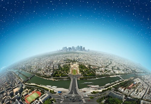 Beautiful View of Paris from Atop the Eiffel Tower
