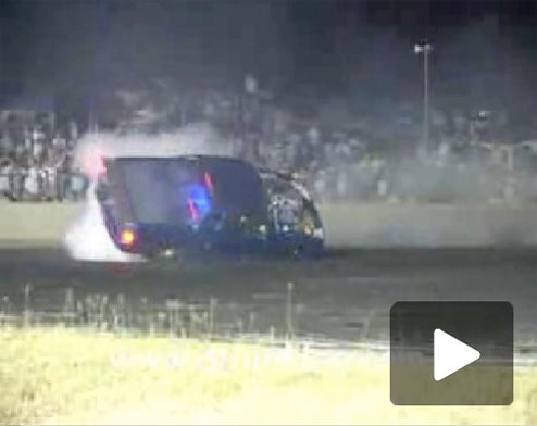 Blown Holden Ute Does Double Roll During Burnout, Crowd Goes Wild!