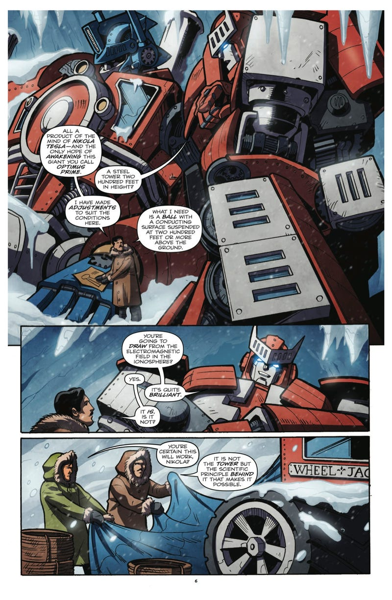 Remember when Nikola Tesla teamed up with Optimus Prime to battle Lovecraftian Decepticons?