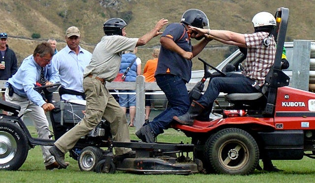 As If Lawnmower Races Weren't Thrilling Enough